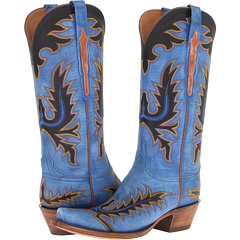 L4728 (Destroyed Blue Goat) Cowboy Boots
