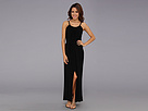 KAMALIKULTURE - Sleeveless Peasant Maxi Gown w/ Belt (Black)