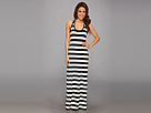 KAMALIKULTURE - Racer Maxi Gown (Black/Off White Stripe)