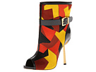 Sergio Rossi - Patchwork Bootie (Yellow/Red) - Footwear