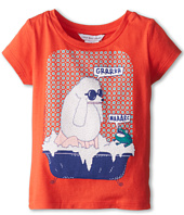 Little Marc Jacobs - Poodle And Frog Bath Tub S/S Tee (Toddler/Little Kids)