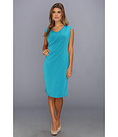 Calvin Klein - Sleeveless Double Layer Wrap Dress