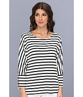Calvin Klein - Three-Quarter Sleeve Dolman w/ Zips