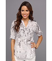 Calvin Klein - Print Crew Top w/ Convertible Sleeves