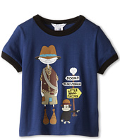 Little Marc Jacobs - Mr Marc And Monkey Ringer Tee (Toddler/Little Kids)