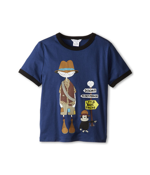 Little Marc Jacobs Mr Marc And Monkey Ringer Tee (Little Kids/Big Kids)