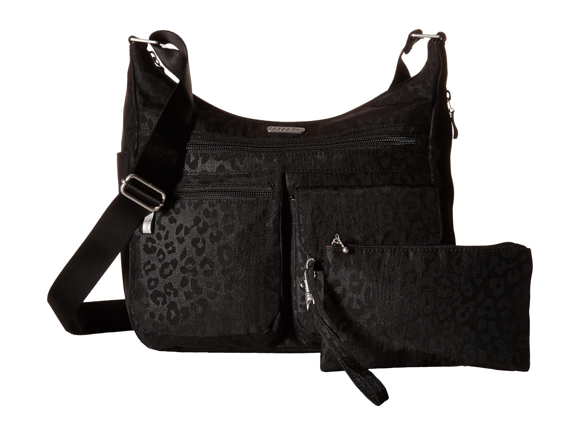 Baggallini Everywhere Bag Cheetah Black Free Shipping Both Ways