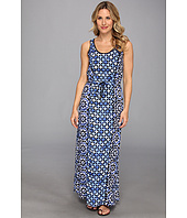 MICHAEL Michael Kors - Sleeveless Lattice Print Maxi Dress
