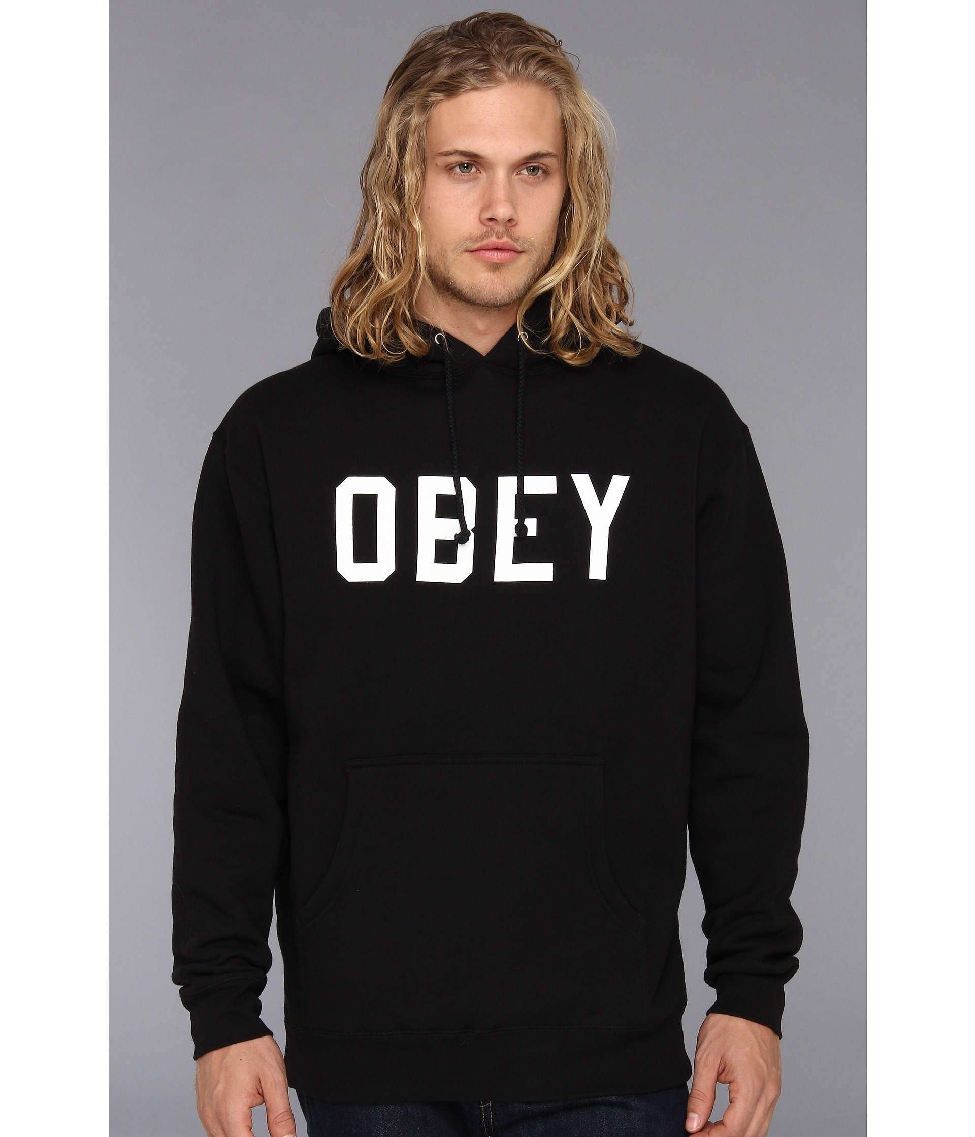 obey collegiate obey pullover hood sweatshirt clothing shipped free at zappos. Black Bedroom Furniture Sets. Home Design Ideas