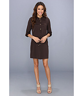 MICHAEL Michael Kors - Roll Sleeve Viscose Shirtdress