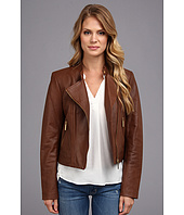 MICHAEL Michael Kors - Leather Moto Polished Jacket