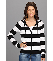 MICHAEL Michael Kors - L/S Stripe Zip Hoodie Sweater