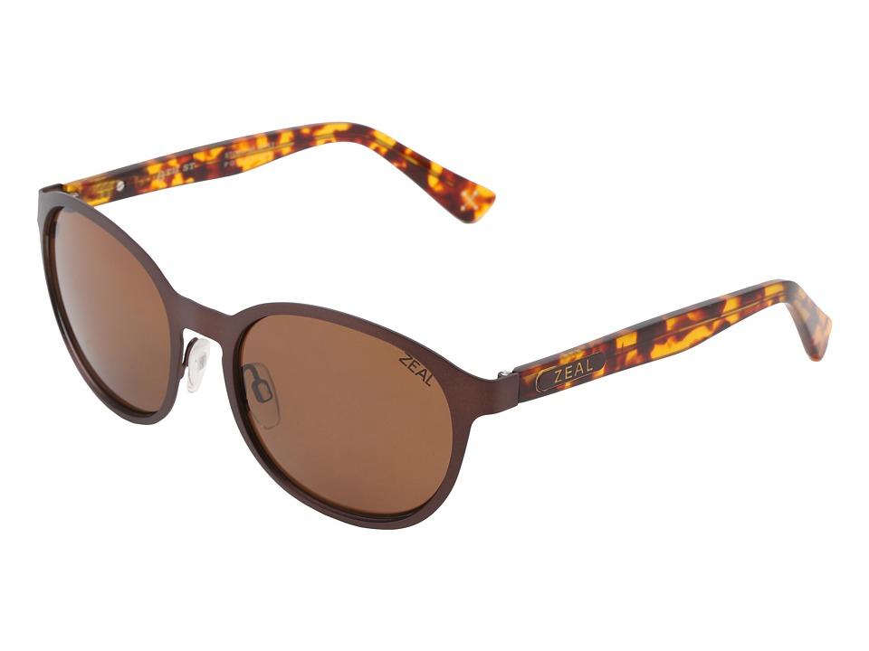 Zeal Optics 6th Street Polarized Copper/Copper Polarized Lens Sport Sunglasses