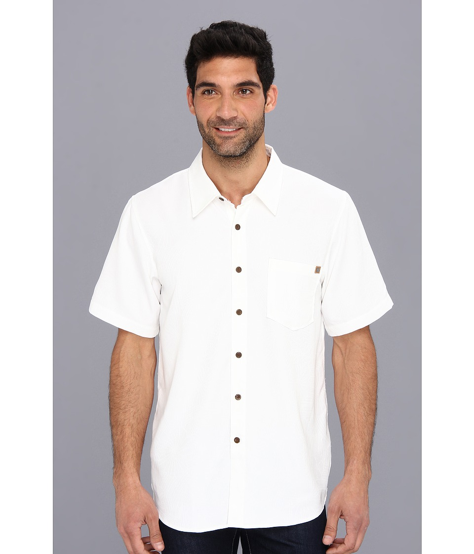 Toes on the Nose - Anacapa Woven White Mens Short Sleeve Button Up $70.00 AT vintagedancer.com