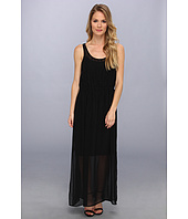 Calvin Klein - Pintuck Maxi Polyester Chiffon Dress