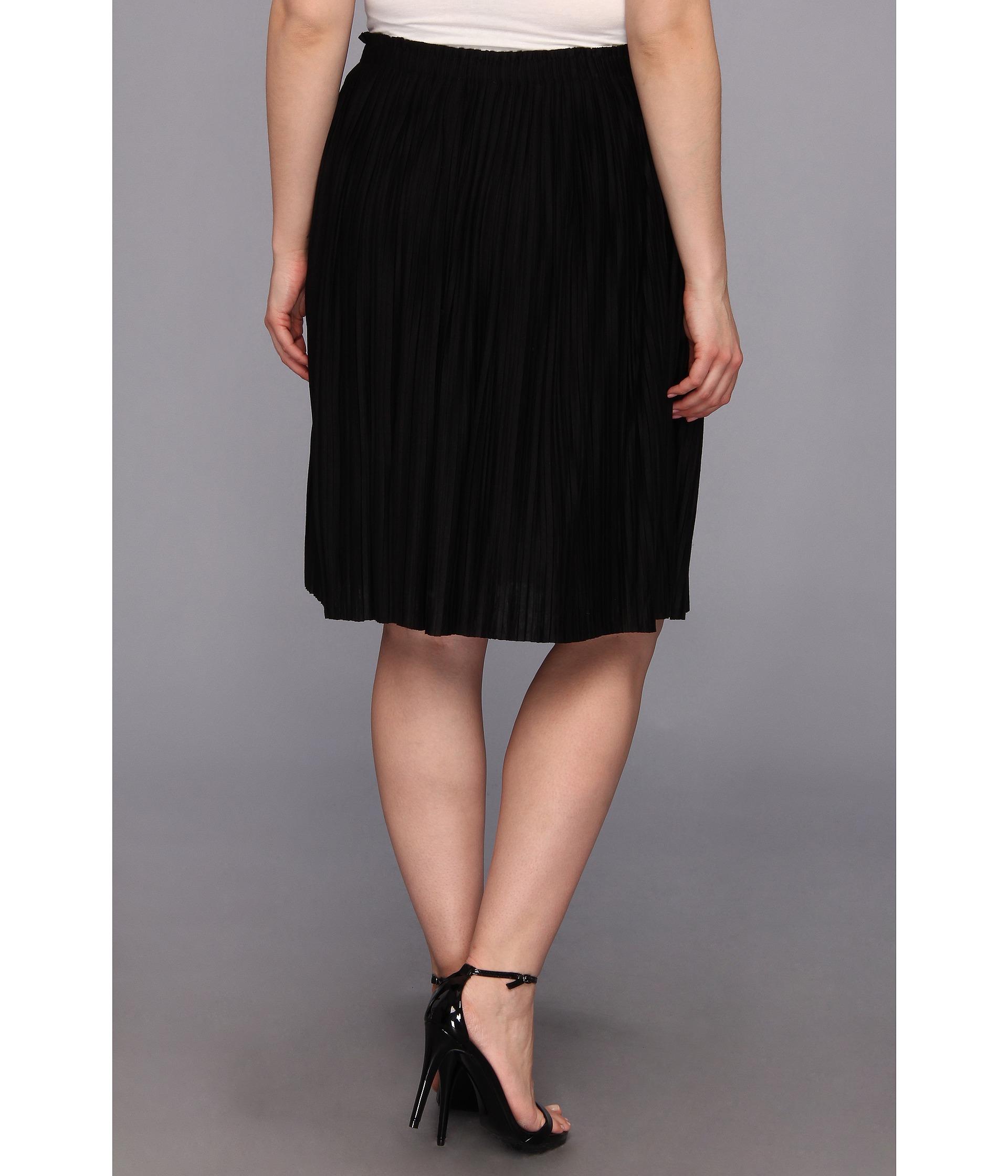 calvin klein plus plus size pleated poly rayon skirt