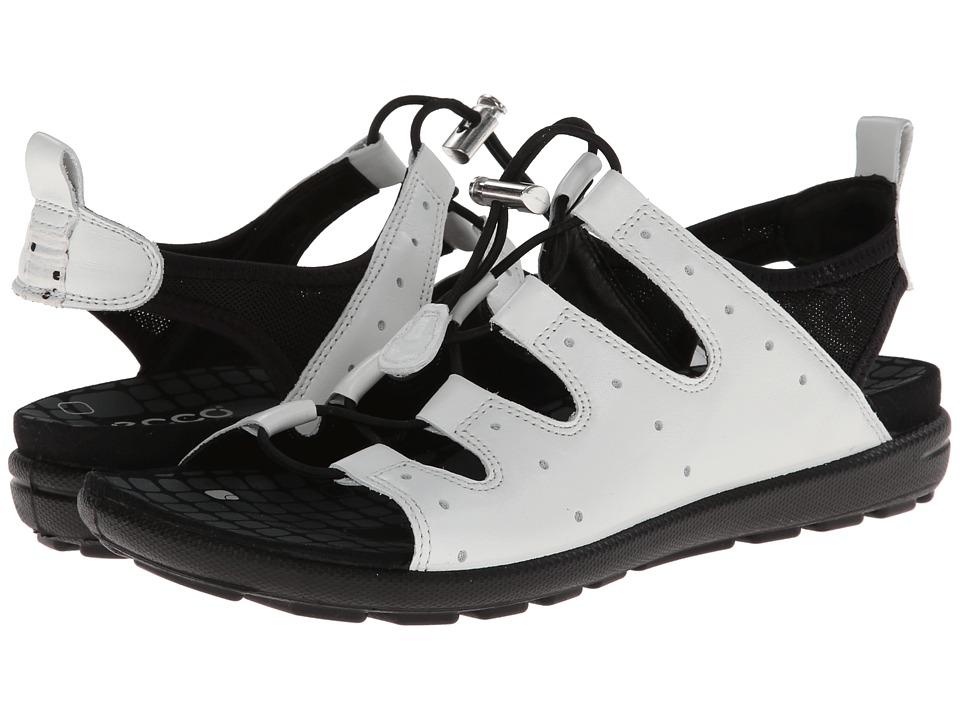 ECCO - Jab Toggle Sandal (White/Black) Women's Sandals