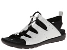 ECCO - Jab Toggle Sandal (White/Black) -