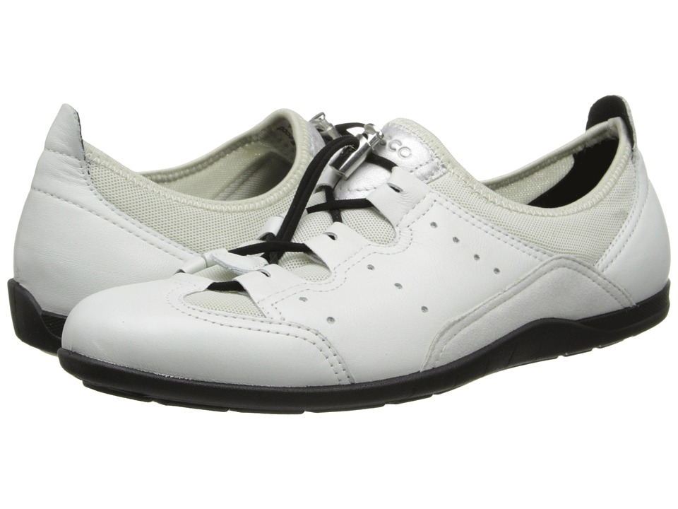 ECCO Bluma Toggle White/Shadow White Womens Shoes