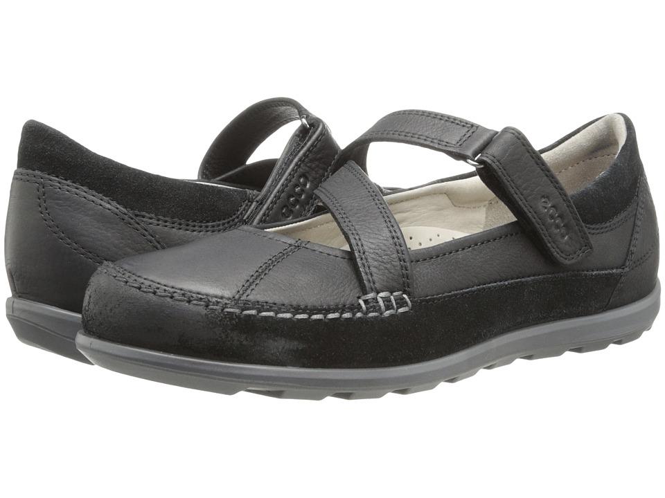 ECCO Cayla Mary Jane Black/Black Womens Slip on Shoes