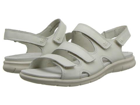 ECCO - Babette Sandal 3-Strap (Shadow White) - Footwear