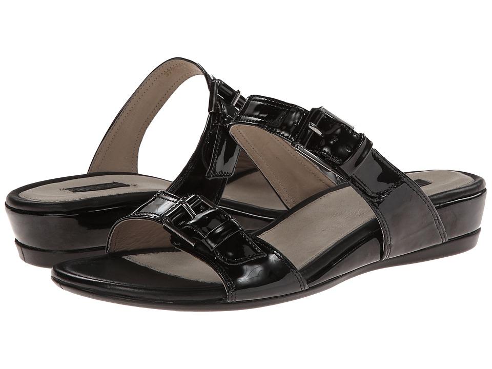 ECCO - Touch 25 Slide (Black Patent) Women's Sandals