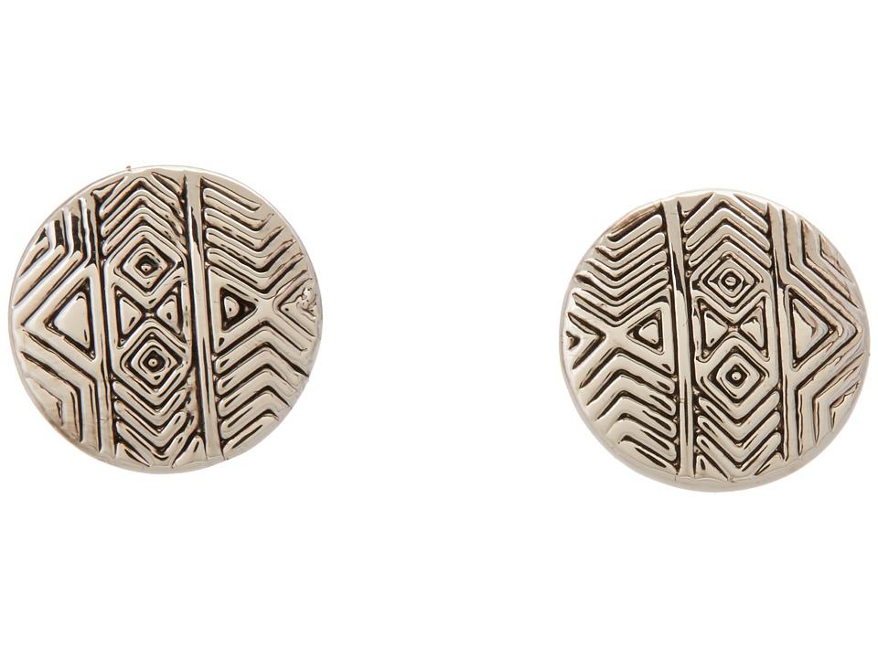 House of Harlow 1960 - Tholos Mosaic Stud Earrings (Silver Tone) Earring