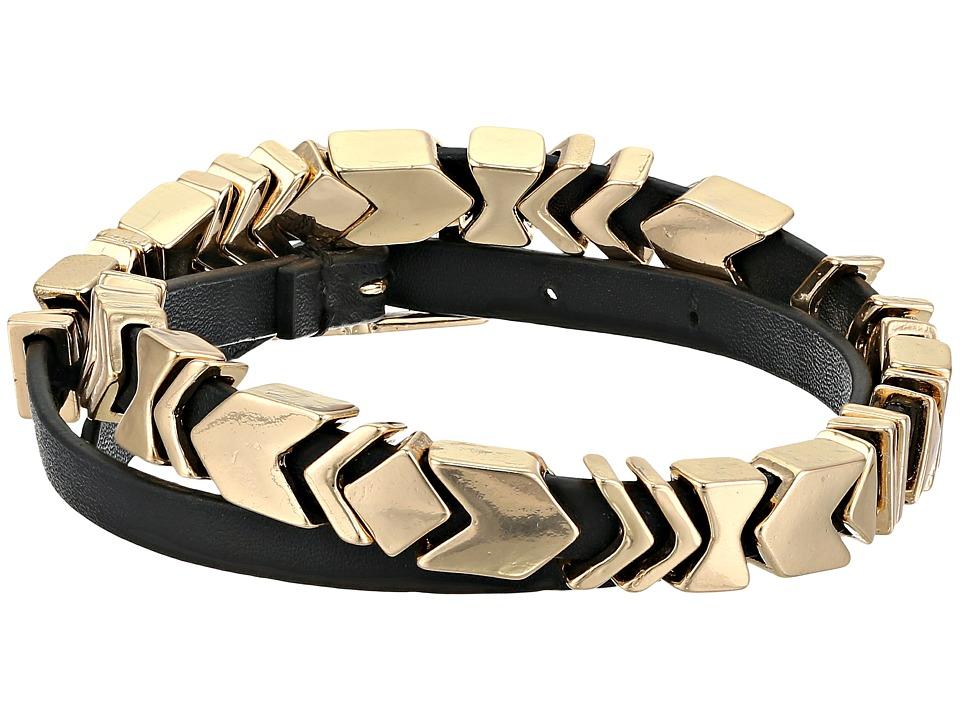 House of Harlow 1960 Aztec Wrap Bracelet Gold Tone/Black Bracelet