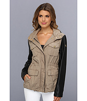 Vince Camuto - Faux Leather & Cotton Anorak F8691
