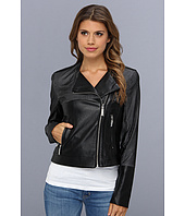 Vince Camuto - Perforated Faux Leather Moto Jacket F8191