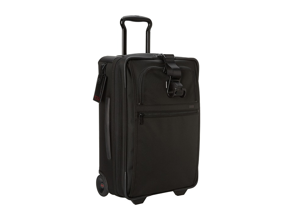 Tumi - Alpha 2 - International Expandable 2 Wheeled Carry-On (Black) Carry on Luggage
