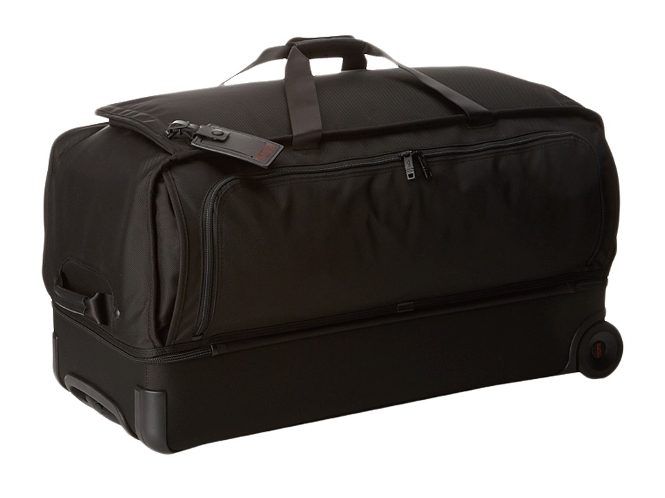 Tumi - Alpha 2 - Large Wheeled Split Duffel (Black) Duffel Bags
