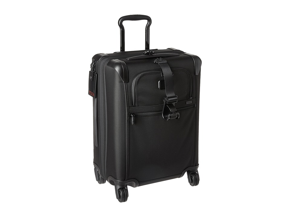 Tumi - Alpha 2 - Continental Expandable 4 Wheeled Carry-On (Black) Carry on Luggage
