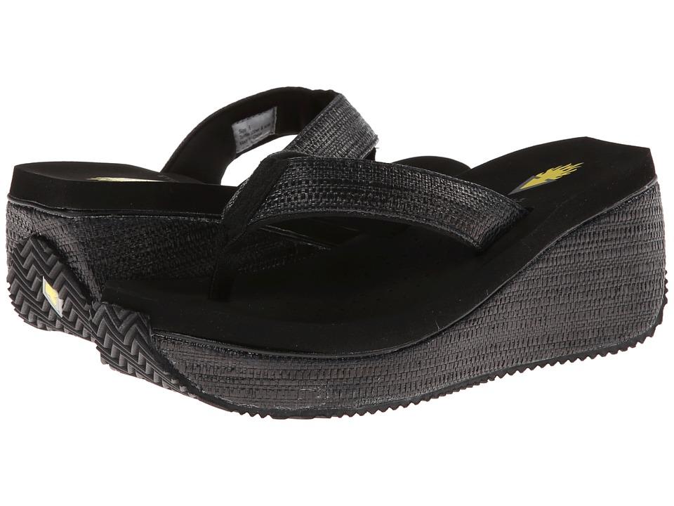 VOLATILE Bahama Black Womens Sandals