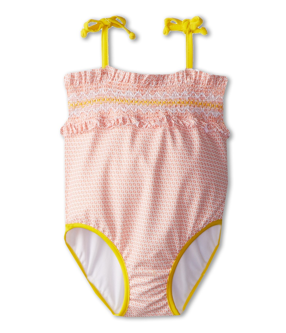 Fendi Kids One-Piece Swimsuit (Infant) (Orange) Girl's Swimsuits One Piece<br />