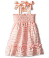 Fendi Kids - Girls Smocked Dress With Bow Straps (Big Kids)