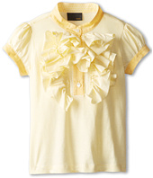 Fendi Kids - Girls S/S Stripe Blouse w/ Ruffles (Toddler)