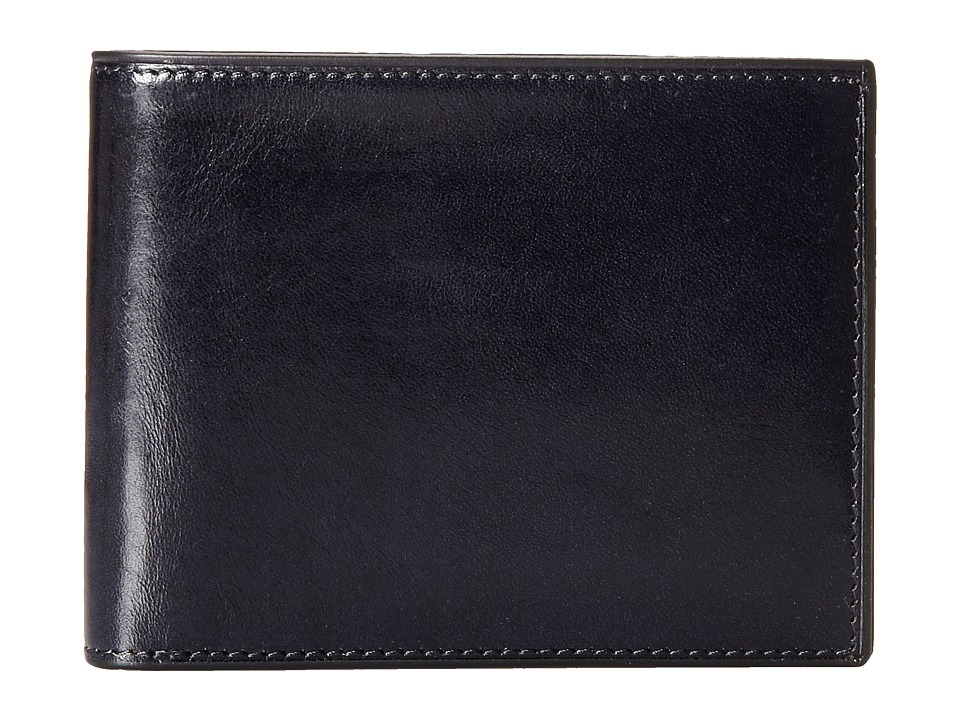 Bosca - Old Leather Collection - Executive ID Wallet (Navy) Bi-fold Wallet