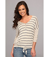 Lucky Brand - Striped Tie Front Top