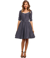 Unique Vintage - Polka Dot Sleeved Dress