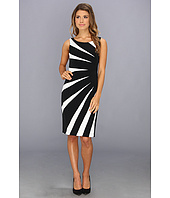 Adrianna Papell - Colorblock Side Burst Dress