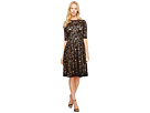 Adrianna Papell 3/4 Sleeve All Over Lace Dress