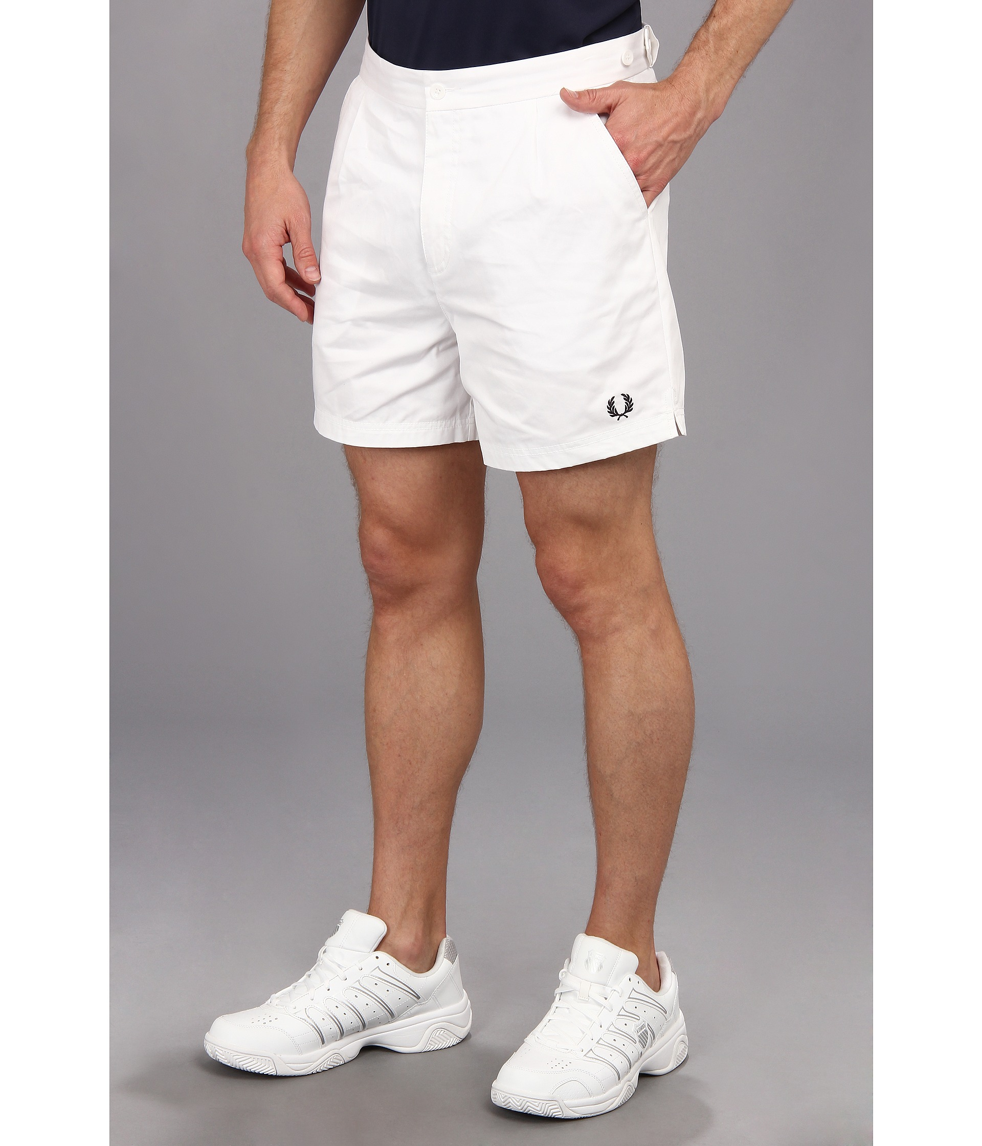 Fred Perry Tailored Tennis Shorts White | Shipped Free at ...
