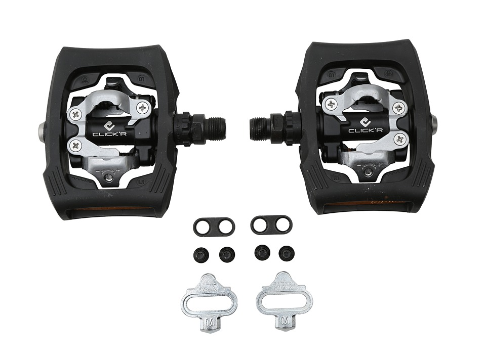 Shimano - PD-T400 Click'r Easy Release Dual-Sided Pedal (Black) Athletic Sports Equipment