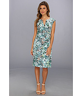 Adrianna Papell - Watercolor Floral Printed Sheath