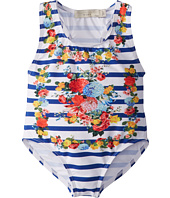 Stella McCartney Kids - Marcie Girls Stripe And Floral Swimsuit (Toddler/Little Kids/Big Kids)