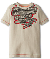 Roberto Cavalli Kids - Boys S/S Logo Tee (Toddler/Little Kids)