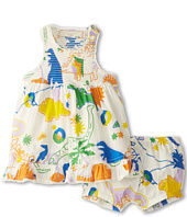 Stella McCartney Kids - Ella Baby Girl Dinosaur Print Dress With Bloomers (Infant)
