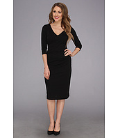 Nicole Miller - Three-Quarter Sleeve Soft Stretch Jersey Dress