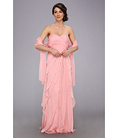 Adrianna Papell - Long Irri Chiffon Strapless Tiered (Bridesmaid)